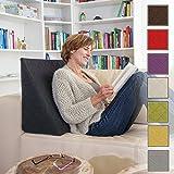 Il fantastico cuscino a cuneo per il vostro soggiorno o camera da letto, cuscino da lettura per una seduta rilassata. 5 colori in tinta unita per un design d'interni alla moda di Sabeatex (nero)
