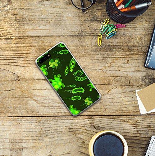 iPhone 7 Plus Hülle, WoowCase® [Hybrid] Handyhülle PC + Silikon für [ iPhone 7 Plus ] Husky-Hunde Sammlung Tier Designs Handytasche Handy Cover Case Schutzhülle - Transparent Housse Gel iPhone 7 Plus Transparent D0552