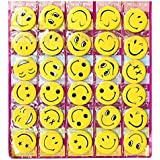 Smiley Face Expressions Button Pins Badge Set Of 30 For Birthday Return Gifts.