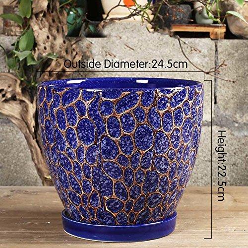 Nclon Keramikplatten Fließenden Glasur Pflanze Pot Blume Pot Pflanze Pflanzer,Vintage Tropft Glasur...