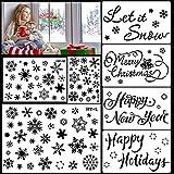 HOWAF Groß Weihnachts schablonen Zeichnung Malerei Set Wiederverwendbarer Kunststoff Schneeflocke schablonen für DIY Weihnachts Dekoration Winter neujahr deko
