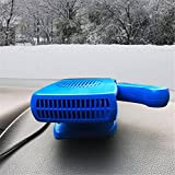STEAM PANDA Calentador de coche Defroster Portable 12v plegable mango Enchufe de cigarrillos Ventilador de enfriamiento con calentador de cerámica (az