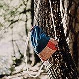 Turnbeutel Frida Bag 067 in Blau Rosa Tasche Beutel Rucksack fürs Dirndl Oktoberfest tauglich- Handgemacht in Südtirol