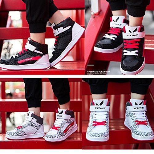 Garçons Filles Entraîneur Poids léger Glisser sur Baskets Respirant Fonctionnement Chaussures Blanc