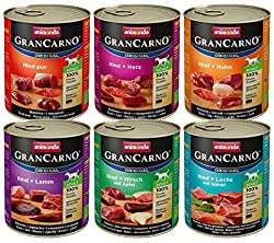 animonda GranCarno dog food, wet food for adult dogs, different varieties, mix 1, 6 x 800 g