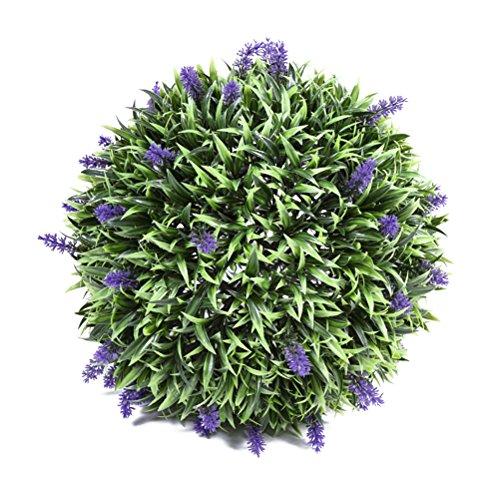 VORCOOL 30cm Kunstpflanze Lavendel Kugel Lavendel matt innen Outdoor Dekoration für Home Hochzeit Party