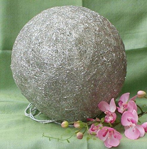 sisalkugel-leuchtkugel-m-10er-lichterkette-silber-glitter-durchm-20-cm