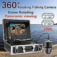 TQ 360 Pesca Grado Cámara De Vídeo, 20 Leds Pesca Submarina De Vídeo De La Cámara De Pescado Buscador De IP68 A Prueba De Agua,50m
