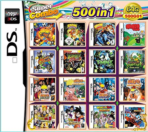 Yaogroo 500 Spiele in 1 NDS Game Pack-Karte Super Combo-Patrone für NDS DS 2DS New 3DS XL