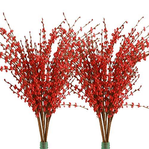 Famibay Flores Artificiales de jazmín de Invierno