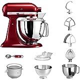 KitchenAid Küchenmaschine | VORTEILS SET | Artisan 5KSM175PS Eiscreme Paket | inklusive Speiseeismaschine und Eisportionierer für hausgemachte Dessert-Kreationen (Liebesapfel Rot)