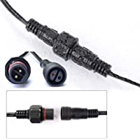 3 Meter/9.8Ft Waterproof Extension Cable for G40 Clear Outdoor Garden Globe String Lights, IP65 Water Resistance UK Plug…