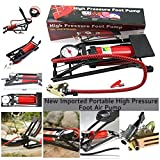 #6: New Portable High Pressure Foot Air Pump Heavy Compressor Cylinder Bike,Car,Cycles,& All Other Vehicles