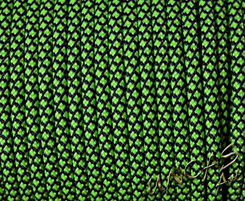 Original bracelet en paracorde 550 tYPE 3–30 m corde couleur : vert fluo diamond