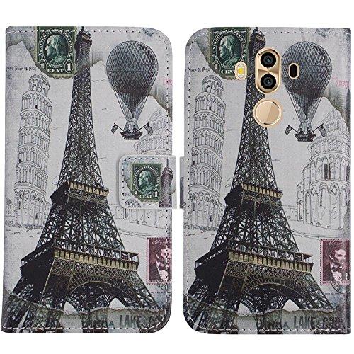 TienJueShi Eiffelturm Flip Book-Style Brief Leder Tasche Schutz Hulle Handy Case Abdeckung Fall Wallet Cover Etui Skin Fur CTC Smartphone 601 3G 6 inch