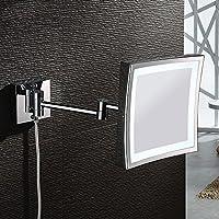 6/8/10 pollice LED illuminati per montaggio a parete di specchio per il trucco con ingrandimento (Centro Telaio Di Montaggio)