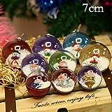 Gulin Pendenti di sfera di plastica trasparente del pupazzo di neve di Natale 1pcs che appendono palla, Ornamenti dell'albero di Natale Baubles Decorazione della casa