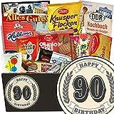 Süße Leckereien aus der DDR zum 90. Jubiläum | Süßigkeitenset DDR | Süßes DDR Geschenk Set mit klassischem Aufkleber