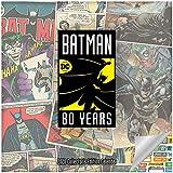 Calendrier de Batman 2020 - Calendrier de collection de luxe 2020 pour 80e anniversaire avec plus de 100 autocollants (cadeaux Batman, DC Comics)