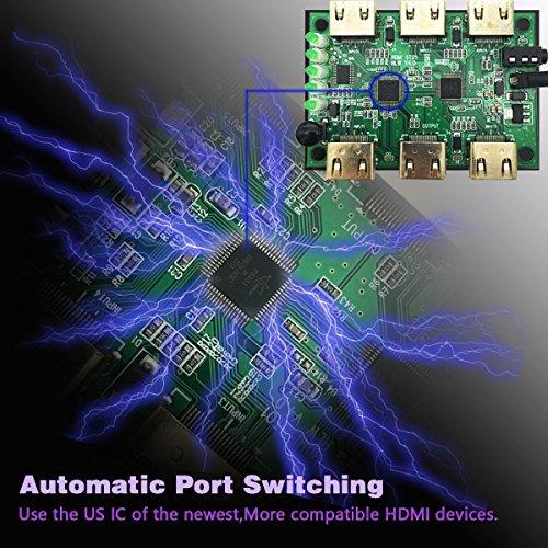 HDMI Switch Intelligent 5-Port 4K HDMI Splitter Full 3D with IR