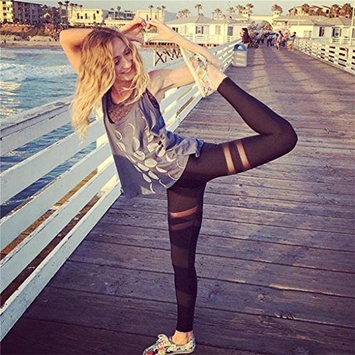 Vovotrade® Femmes Sport Gymnastique Yoga Entraînement Haute Taille Pantalon Fitness élastique Leggings 2017 Noir