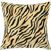 Quadrato/rettangolare leopardo stampato cuscino Cover ChezMax breve peluche Throw Pillow Case Sham Slipover Pillowslip Federa per la casa divano letto sedia sedile posteriore, Leopard Printed, 16*24