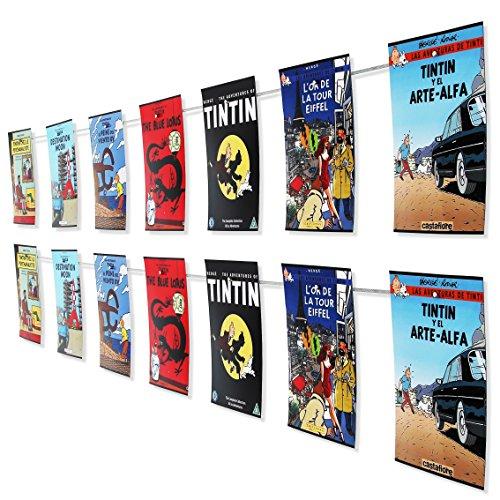 LeTOMA - Fotoseil 2x120 cm mit 2x12 ultrastarken Neodym Magneten - Bilderseil zum Aufhängen von Fotos, Bildern und Postkarten - Einfache und schnelle Montage an jeder Wand - Fotomagnetseil, Magnetseil (Bilder Wand Aufhängen)