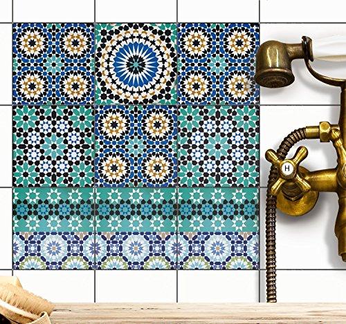 Dekorationsaufkleber Fliesen | Sticker Aufkleber Folie Wandfliesen   Deko  Bad U. Küche | 15x15 Cm   Muster Tuerkisches Mosaik   36 Stück