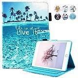 MOKASE Coque iPad Mini, Mini 2/3/4Coque, Cuir Smart Coque avec Pied coloré Portefeuille Flip Coque de Protection pour Apple iPad Mini 1234
