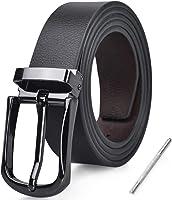 NUBILY Cinturon Hombre Cuero Negro Marrón Jeans Reversible Piel Cinturón para Hombres Clásico Negocios Casual Trabajo...
