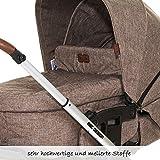 ABC Design Kombi-Kinderwagen Set Turbo 4 – inkl. 3in1 Tragewanne für Neugeborene, Liegefunktion, ausklappbarem Sonnenverdeck, Schieber höhenverstellbar, Sitz drehbar, große Räder – Bean - 9