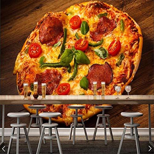 Sucsaistat Fonds D'Écran, Peintures Murales, 3D,Fast Food Pizza Mural, Murale Express Cuisine Restaurant Restaurant Supermarché, 400Cm (L) X 280Cm (H)