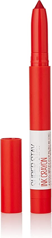 Maybelline New York Super Stay Crayon Lipstick, 40 Laugh Louder, 1.2g