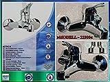 Hochwertige Wannenfüllarmatur-Hochdruckarmatur-Einhebelmischer-Wannenarmatur-Schuette Hoga -Chrom -Modell Athos