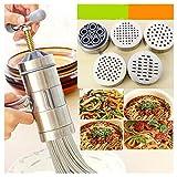 Nudelmaschine Edelstahl Nudelmaschine mit 5 Modellen Manuelle Nudelpresse Nudelmaschine Küchenwerkzeug