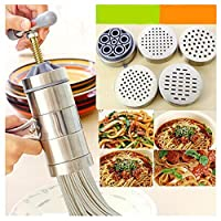 Stainless Steel Noodle Maker With 5 Models Manual Noodle Press Pasta Machine Cooker Accessories for Home Kitchen
