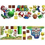 Super Mario muurstickers, 2 stuks Super Mario muurdecor voor kinderkamer kinderkamer, wanddecoratie, Super Mario Wall Art Hom