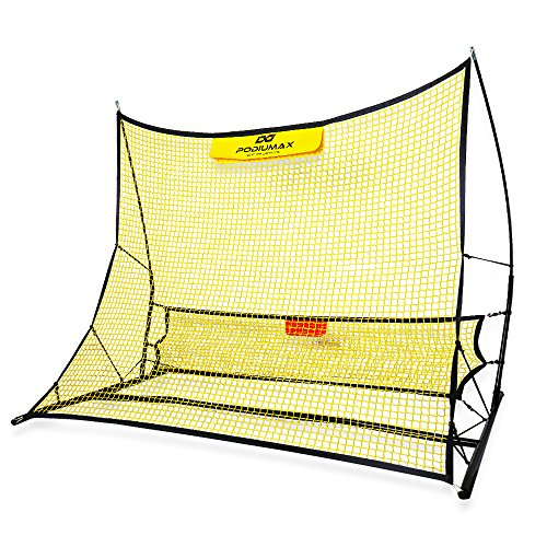 PodiuMax Portable Football Trainer  2 in 1 Football Rebounder Net to Improve Football Passing and Solo Skills  6 x 4 7 Foot