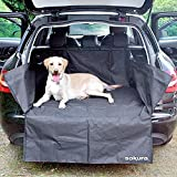 Sakura Car Boot Liner Bumper Protector for Dogs SS4612 Universal 106 x 97 x 37 cm Easy Fit Heavy Duty Wipe Clean Adjustable Non-Slip Tear Proof Keeps Carpet From Muddy Paws Water Rubbish Tool Shopping
