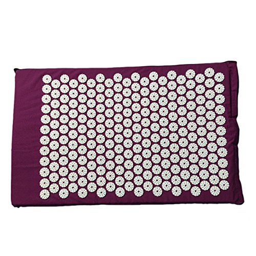 oumosi estera de acupresión para yoga cama colchón dolor aliviar masajeador con pinchos para masaje de plástico