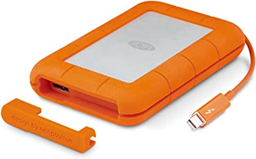LaCie Rugged Thunderbolt STEV2000400 USB 3.0 2TB External Hard Disk (Orange)