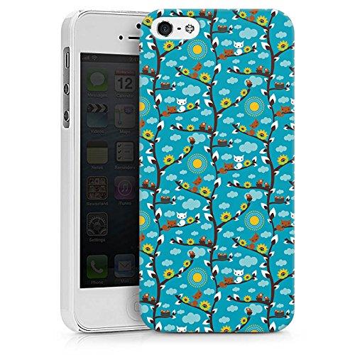 Apple iPhone X Silikon Hülle Case Schutzhülle Wolken Sonnenblumen Eichhörnchen Hard Case weiß