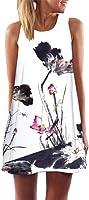 VICGREY Vestiti,Gonne,Abito, Estate Eleganti Stampa Slim Vestito da Donna Casual Gonne Senza Maniche Canotte Abito Beach...