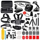 Followsun 52-In-1 Accessori per GoPro Hero Session/5 Hero 1 2 3 3+ 4 5, Kit per Action Camera SJ4000 SJ5000 SJ6000 SJ7000 DBPOWER AKASO VicTsing APEMAN WiMiUS Rollei QUMOX Lightdow Campark Sony Sports