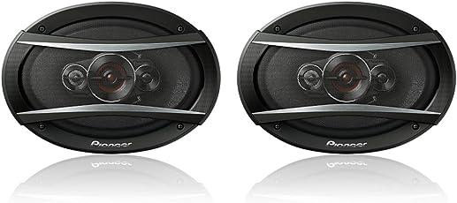 Speedwav 274179 Pioneer TS-A946H 4-Way 6x9 600 Watt Coaxial Car Speaker (Black) - Set of 2