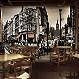 PEIWENIN-Fondos de papel retro de la calle del arte del sexo Papel pintado inconsútil europeo de la...