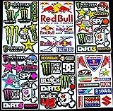 Promo 6 Bogen Aufkleber kkki selbstklebend Stickers Rockstar Energy Drink BMX Moto-Cross Decals Abziehbilder MX