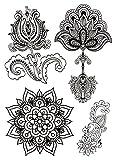 Temporäres Fake Tattoo Mandala Set Blume entfernbare klebe Henna Festival Folie Künstlich Schwarze Körperkunst Temporary für Frauen Männer Kinder