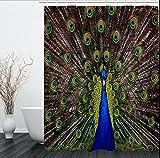 liuhoueCreative peacock bathroom vorhänge,wasserdicht und schimmel vorhang,home trennwand vorhänge,bad vorhang-A 200cm*200cm