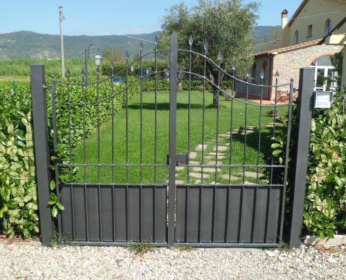 Cancello pedonale ferro battuto realizzazioni personalizzate 073